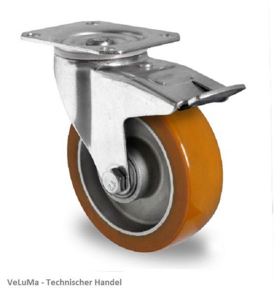 Schwerlastrollen Polyurethan Rad 125 mm Transport Rolle Bremsrolle