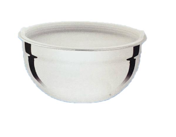 Schüssel mix bowl 20cm hoch aus Edelstahl mit Kunststoff Deckel