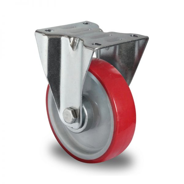 Transportrollen Polyurethan Schwerlastrollen 200 mm Bockrolle Möbelrolle Rolle