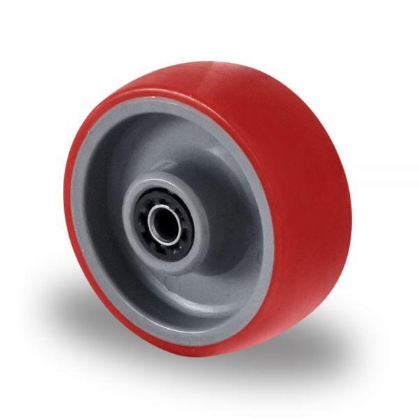 Polyurethan Rad Kunststoff Rad 80 mm Polyamid inkl. Montageset Rolle