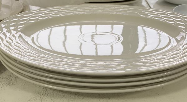 Porzellan-Platte Selina, oval 35cm
