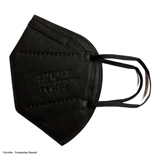 10x FFP2 Maske schwarz 5 lagig Mundschutz Atemschutz Deutscher Händler CE geprüft