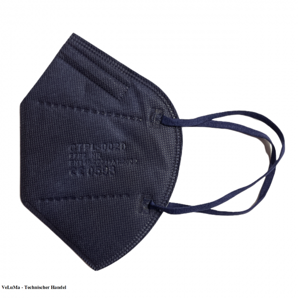 100 x FFP2 Maske blau 5 lagig Mundschutz Atemschutz Deutscher Händler CE geprüft