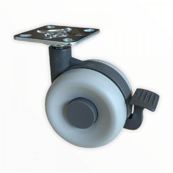 Doppelrollen Kunststoff 60mm Design Möbelrolle Bremsrollen Transportrollen ROBBY