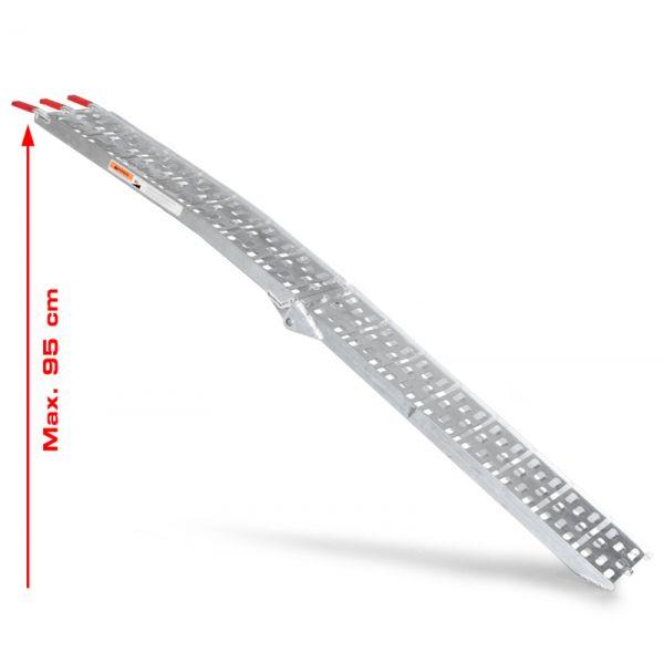 Auffahrrampe Verladeschiene Schiene Rampe Laderampe klappbar Vollaluminium 225cm