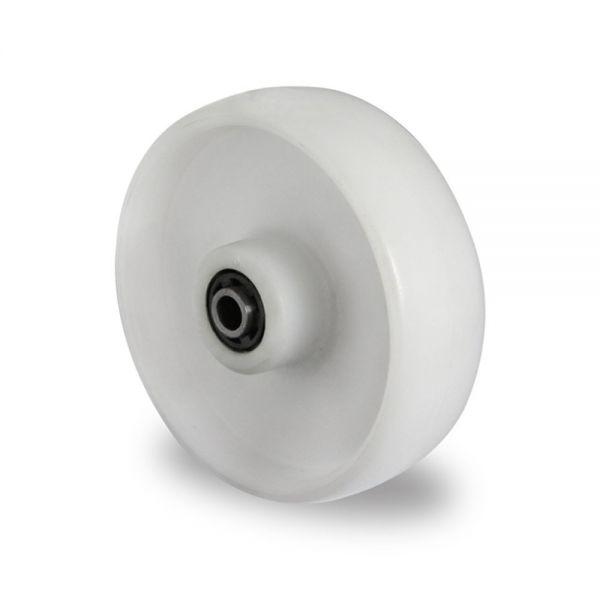 Polyamid Rad 125 mm Kunststoff Rolle Transportrollen Ersatzrad inkl. Montageset