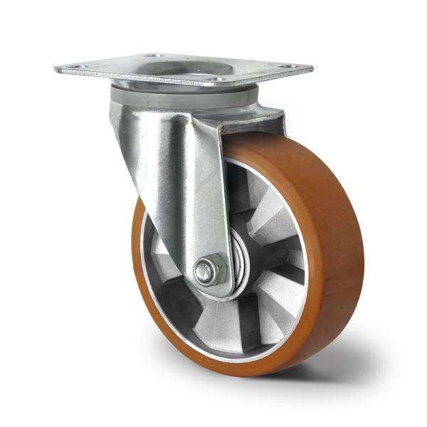 Schwerlastrollen Transportrollen 200 mm Polyurethan Rad Lenkrolle Rad Rolle