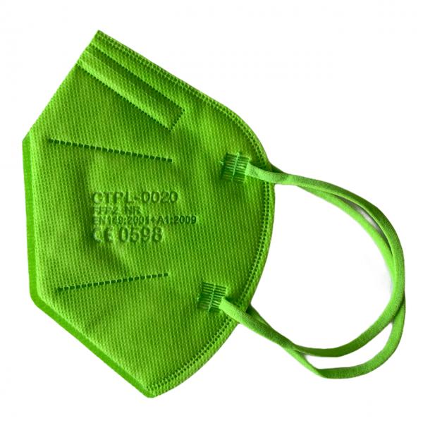 FFP2 Maske neongrün 5 lagig Mundschutz Atemschutz Deutscher Händler CE geprüft