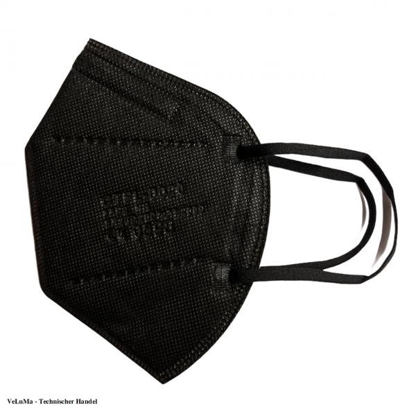 5x FFP2 Maske schwarz 5 lagig Mundschutz Atemschutz Deutscher Händler CE geprüft