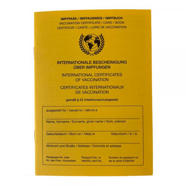 Impfpass International WHO Impfausweis Impfbuch mit Zusatzseite COVID-19