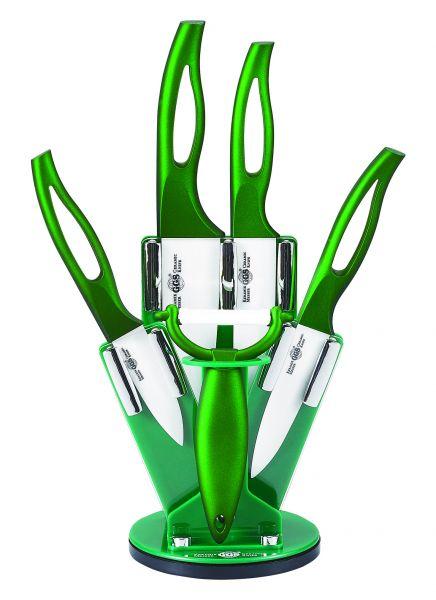 Messer Set 6 teilig Küchenmesser Allzweck Sparschäler stylisch
