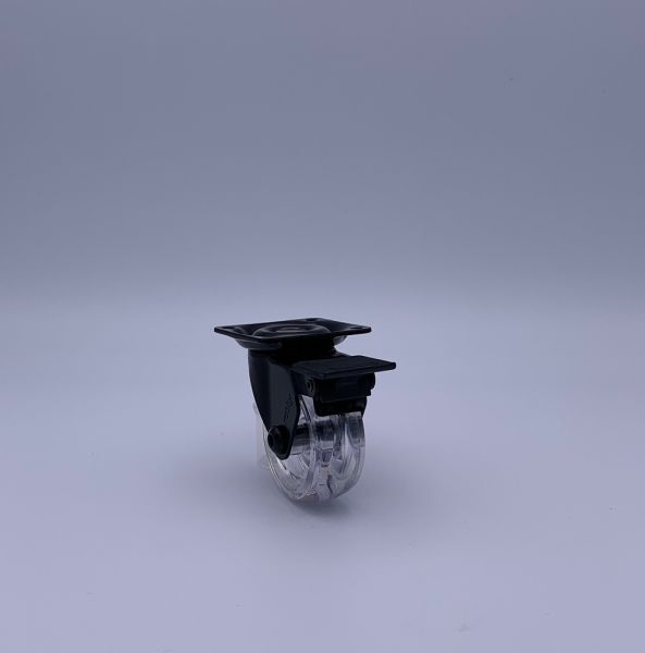 Design Möbelrollen transparent 35mm Lenkrollen Bremsrollen Transportrollen ROBBY