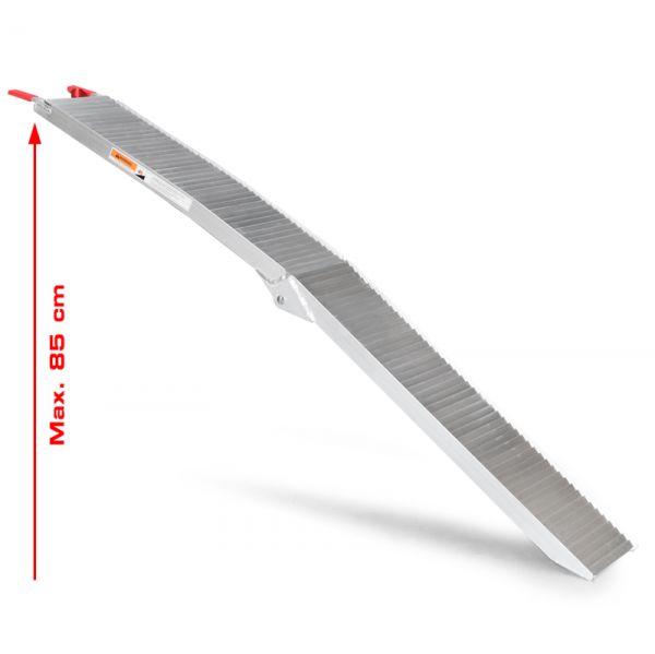 Auffahrrampe Verladeschiene Schiene Rampe Laderampe klappbar Vollaluminium 205cm