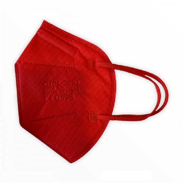 FFP2 Maske Rot 5 lagig Mundschutz Atemschutz Deutscher Händler CE geprüft