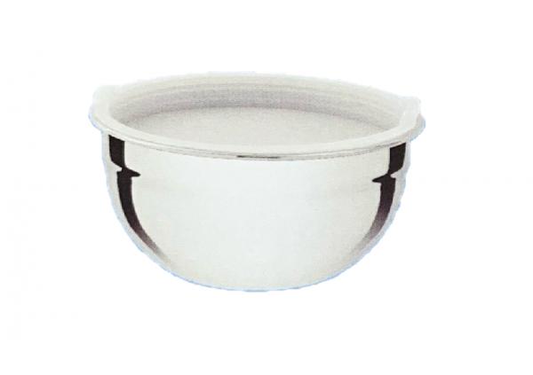 Schüssel mix bowl 16cm hoch aus Edelstahl mit Kunststoff Deckel