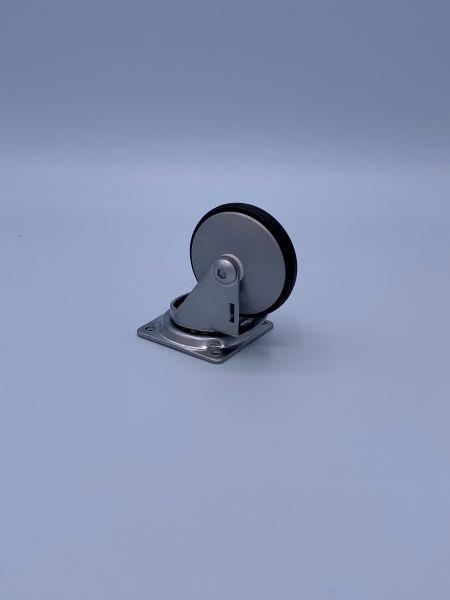 Designer Möbelrollen 50 mm Chrom Lenkrollen Bremsrollen Transportrollen ROBBY