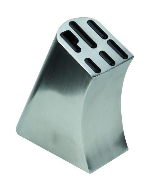 Messerblock ohne Messer Edelstahl für 6 teiliges Messerset