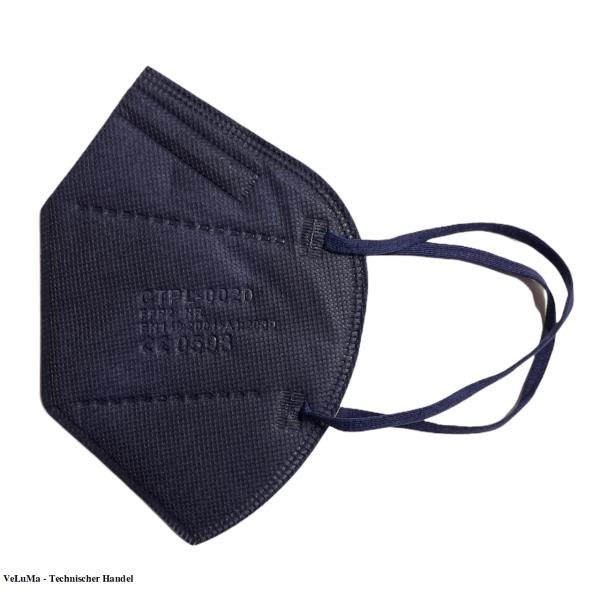5 x FFP2 Maske blau 5 lagig Mundschutz Atemschutz Deutscher Händler CE geprüft