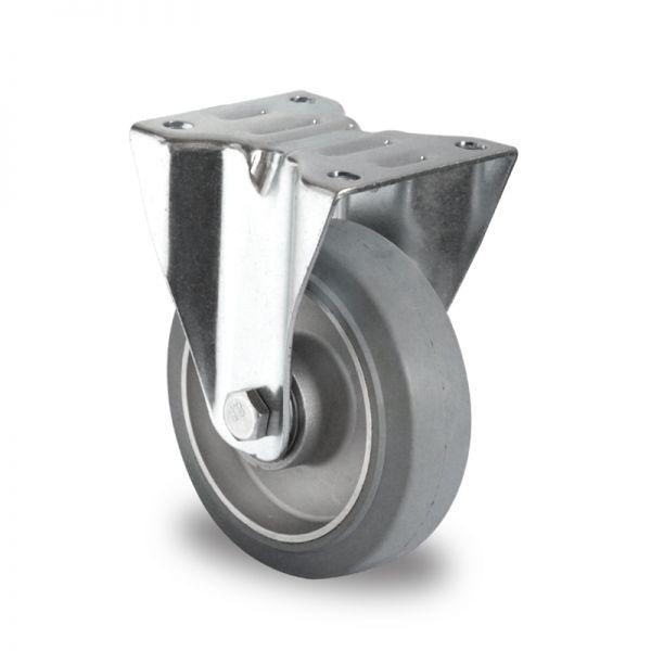 Schwerlastrollen 100 mm Vollgummi Rad 600 kg Tragkraft Transportrollen Bockrolle