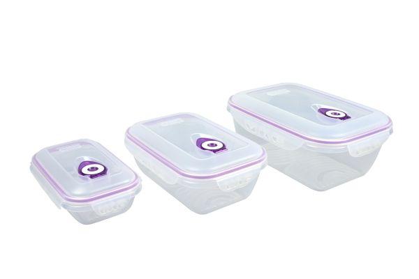 Vakuumdose SET + Deckel Vorratsdose Aufbewahrungsdose Vorratsbehälter 3 teilig