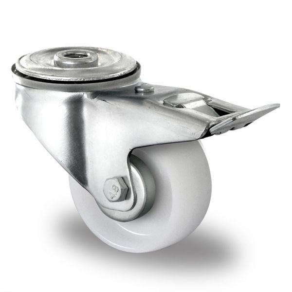Polyamid Schwerlastrollen 80 mm Transport Rolle Bremsrolle Kunststoff Rad