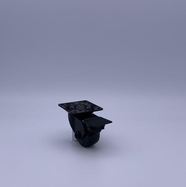 Designer Möbelrollen schwarz 50 mm Lenkrollen Bremsrollen Transportrollen ROBBY