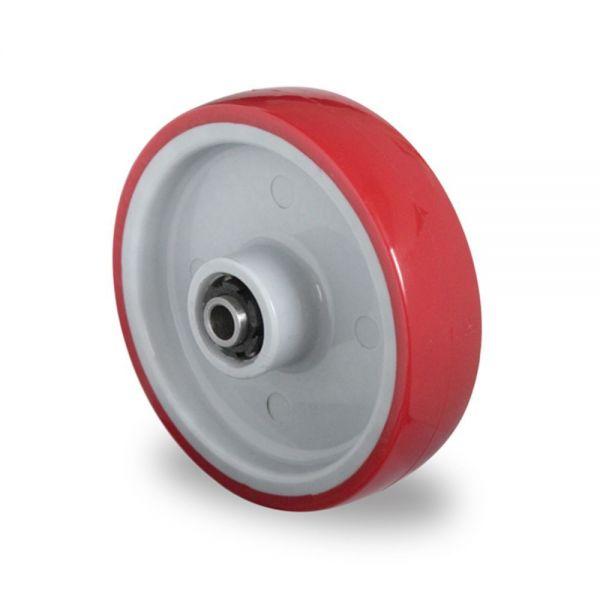 Polyurethan Rad Kunststoff Rad 100 mm Polyamid inkl. Montageset Rolle