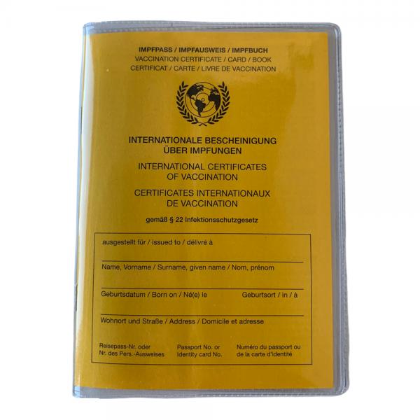 Schutzhülle für Impfpass International WHO Hülle Impfausweis Impfbuch