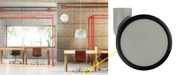 5x Möbelrolle 65 mm Bürostuhlrolle Hartbodenrolle Stuhlrolle Kindermöbel Medizin