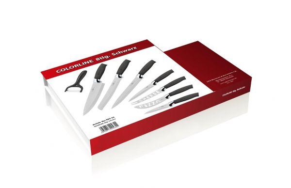 Messerset 8-teilig Küchenmesser Sparschäler Kochmesser Brotmesser stylisch