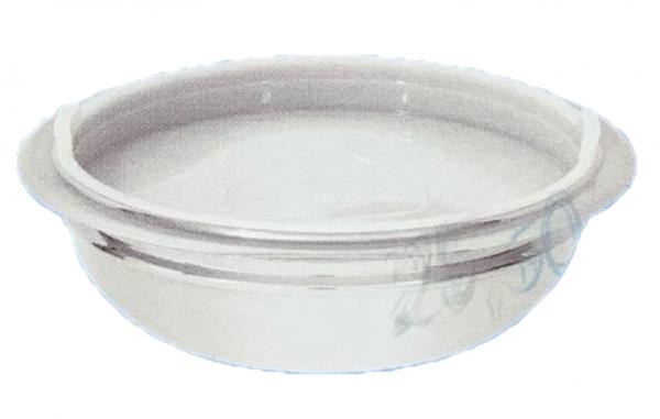 18/10 Edelstahl Schüssel mit Kunststoff Deckel 20 cm flach