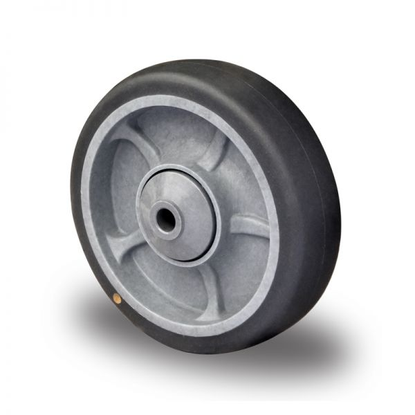 Einbaurad ESD, Ø 100 mm, Gummi Rad elektr. leitfähig