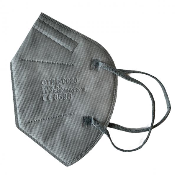 FFP2 Maske Grau 5 lagig Mundschutz Atemschutz Deutscher Händler CE geprüft