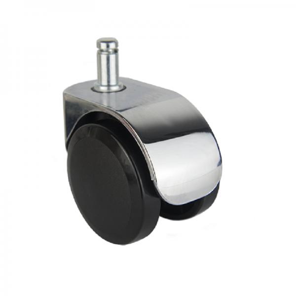 Design Möbelrolle 50mm Chrom Lenkrolle Stuhlrolle Bürostuhl Transportrolle ROBBY