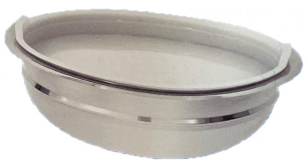 18/10 Edelstahl Schüssel mit Kunststoff Deckel 24 cm flach