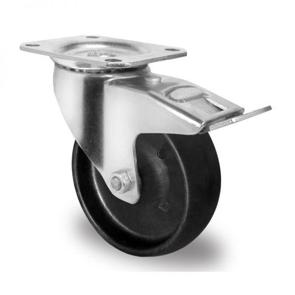 Rollen hitzebeständig Bremsrolle Stikkenwagen Bäckerei Ø 125mm -20 bis+250°C