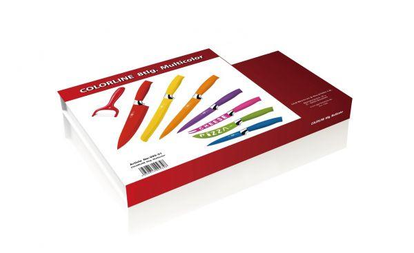 Messerset 8-teilig Küchenmesser Allzweck Kochmesser Brotmesser