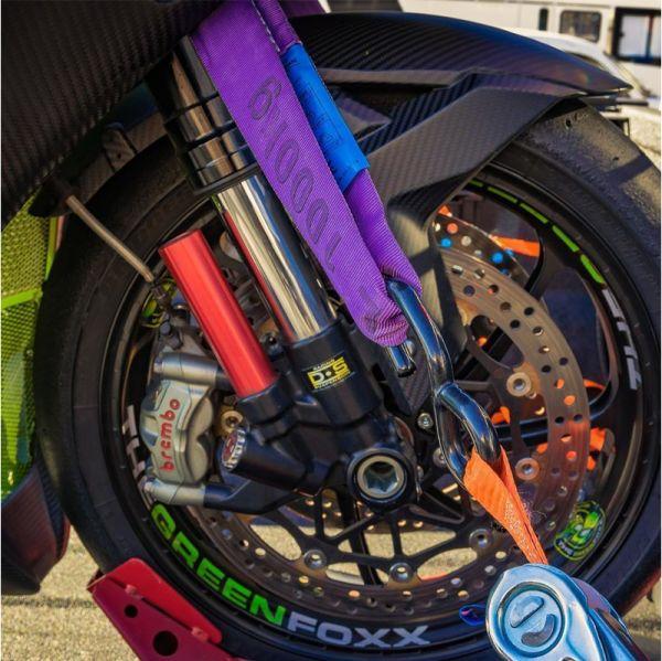 Abspanngurt Zurrgurt Schlaufengurt Ladungssicherung Motorrad 100 cm Paar gelb